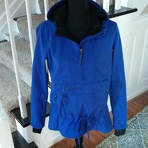 Calvin Klein blue performance coat, small